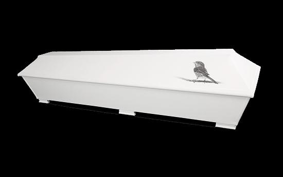 Kuva-arkku Pellava-arkku pellavainen hauta-arkku lintuarkku