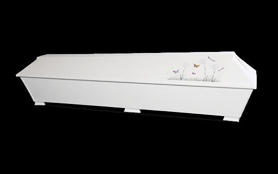 pellava-arkku maalattu arkku ruumisarkku